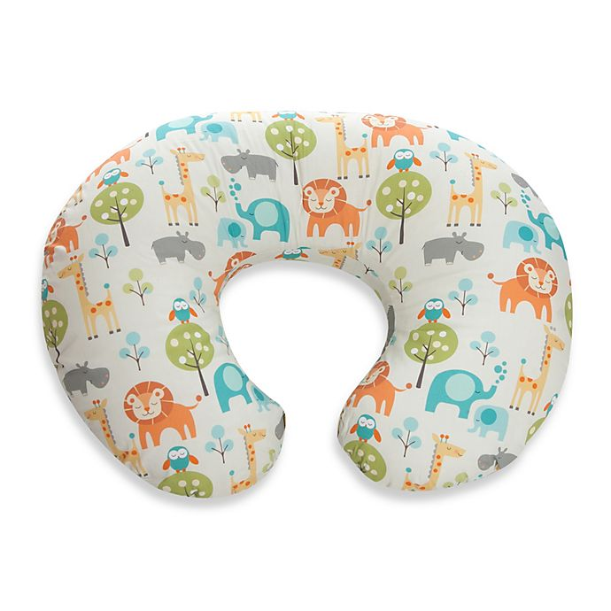 Alternate image 1 for Boppy® Infant Feeding/Support Pillow with Peaceful Jungle Slipcover
