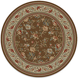 Concord Global Trading Ankara Floral Garden 5-Foot 3-Inch Round Rug