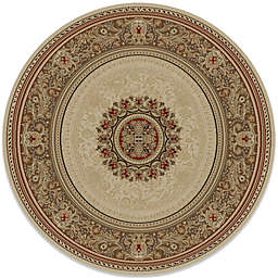 Concord Global Chateau 5-Foot 3-Inch Round Rug in Ivory