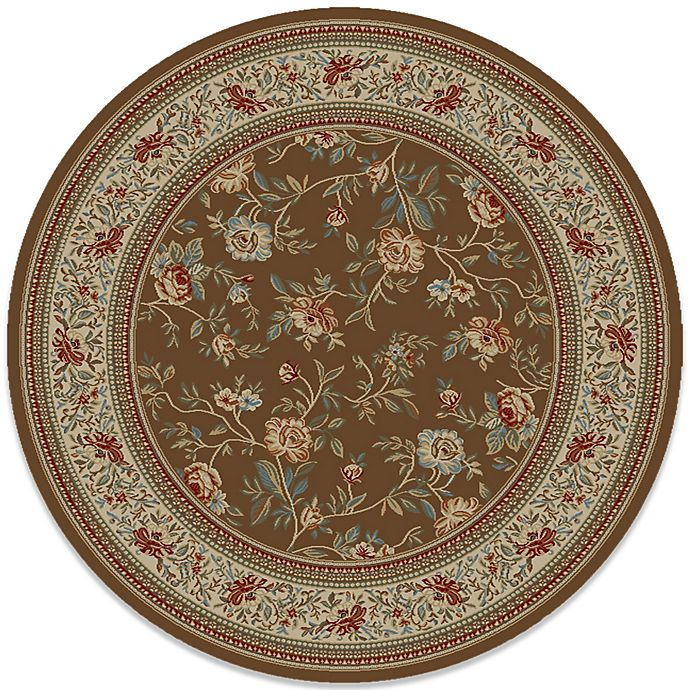 Alternate image 1 for Concord Global Trading Ankara Floral Garden 7-Foot 10-Inch Round Rug