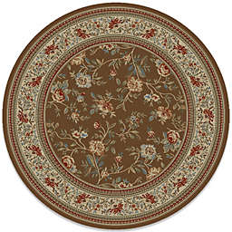 Concord Global Trading Ankara Floral Garden 7-Foot 10-Inch Round Rug