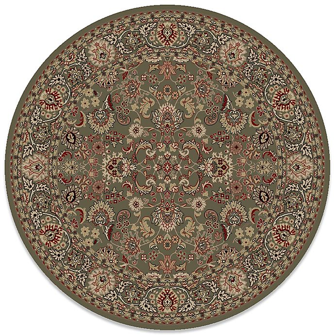 Alternate image 1 for Concord Global Mahal Green 7-Foot 10-Inch Round Rug