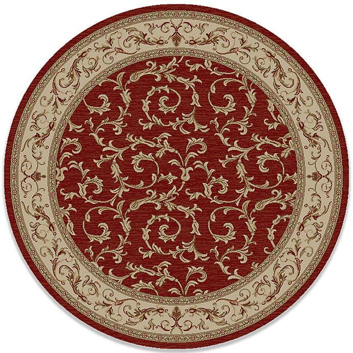 Alternate image 1 for Concord Global Trading Veronica 63-Inch Round Rug in Red