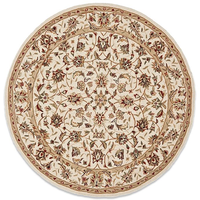 Alternate image 1 for Safavieh Chelsea Collection Wool 8-Foot Round Rug in Ivory
