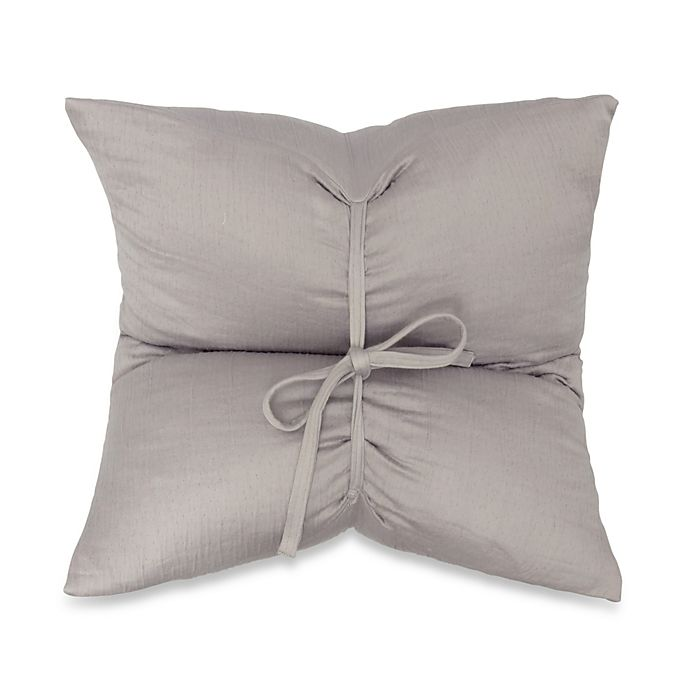 Alternate image 1 for DKNYpure Pure Indulge Matelassé Square Throw Pillow in Grey