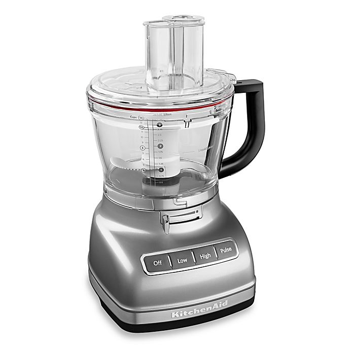 Alternate image 1 for KitchenAid®® 14-Cup Food Processor with Dicing Kit in Silver