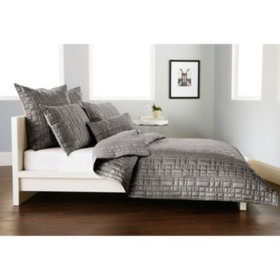 Dkny City Line Quilt In Grey Bed Bath Amp Beyond