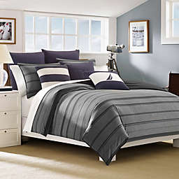 Nautica® Sebec Duvet Cover Set in Grey/Multi
