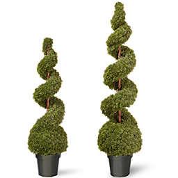 National Tree Cedar Spiral Ball Plant with Green Pot