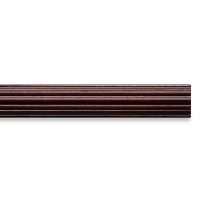 Alternate image 1 for Cambria® Classic Wood Decorative Fluted Drapery Pole in Cherry