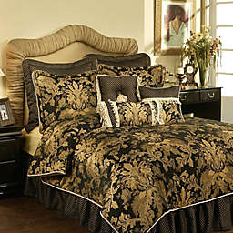 Austin Horn Classics Verona Duvet Cover in Black/Gold