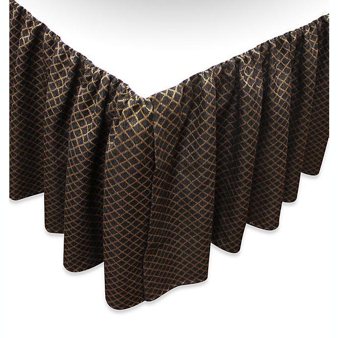 Alternate image 1 for Austin Horn Classics Verona Full Bed Skirt in Black/Gold