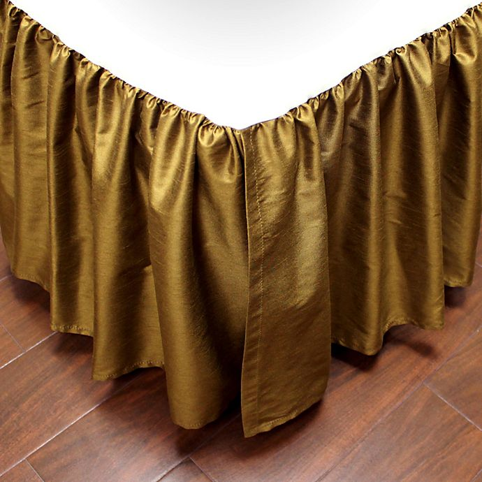 Alternate image 1 for Austin Horn Classics Verona Full Bed Skirt in Gold