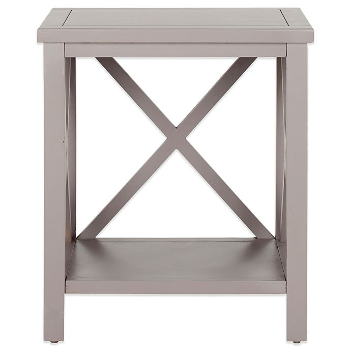 Safavieh Candace Cross Back End Table Bed Bath Beyond