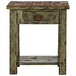 Safavieh Alfred End Table in Antique Green