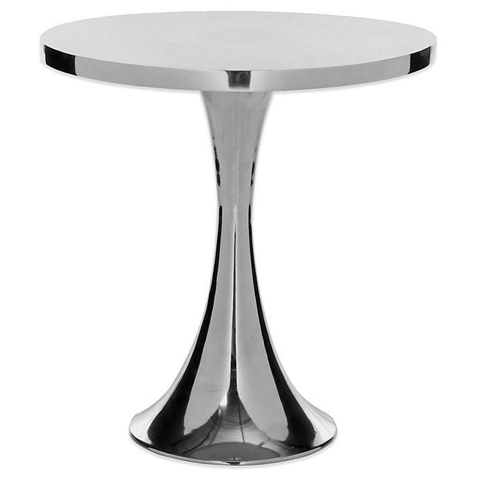 Alternate image 1 for Safavieh Galium Aluminum Side Table in Silver