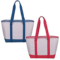 Insulated Flax Tote Bag