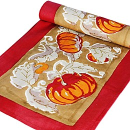 Couleur Nature Pumpkin Table Runner in Red/Green