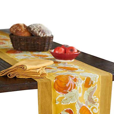 Couleur Nature® Pumpkin Table Runner in Orange/Mustard