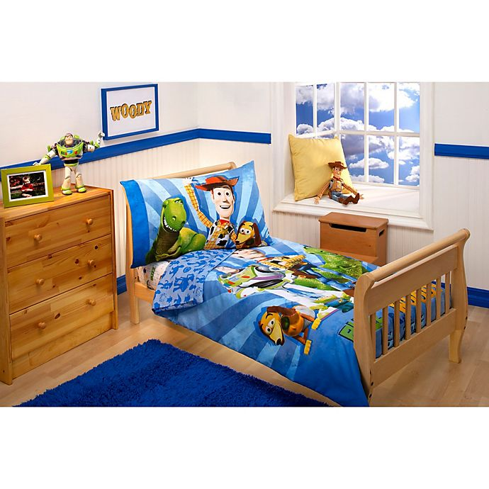Disney Buzz, Woody and the Gang 4-Piece Toddler Bedding ...