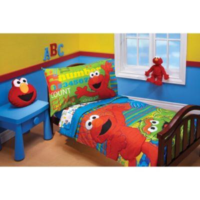 Sesame Street Abc 123 4 Piece Toddler, Elmo Bedding Queen Size