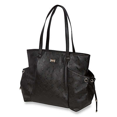 The Bumble Collection™ Embossed Tote Diaper Bag in Black