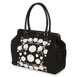 The Bumble Collection™ Embossed Flora Frame Diaper Bag in Black