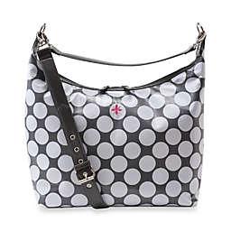 JP Lizzy Glazed Hobo Diaper Bag in Polka Dot