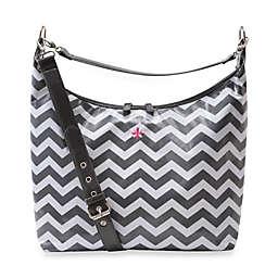 JP Lizzy Glazed Hobo Diaper Bag in Chevron