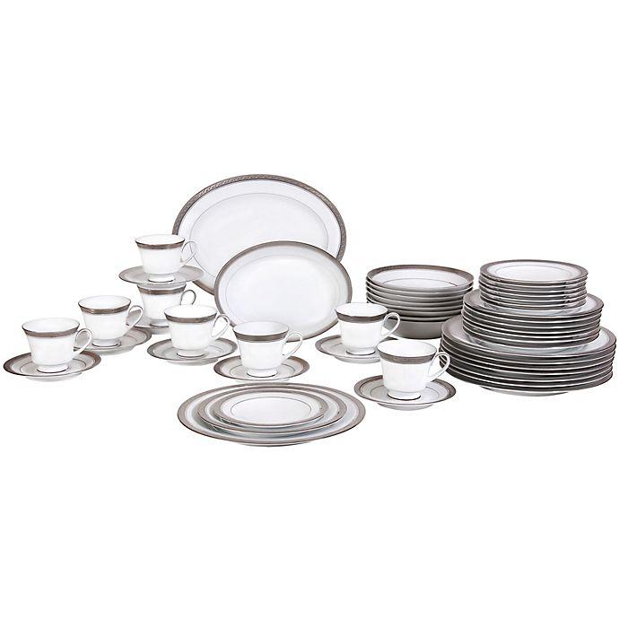 Alternate image 1 for Noritake® Crestwood Platinum 50-Piece Dinnerware Set