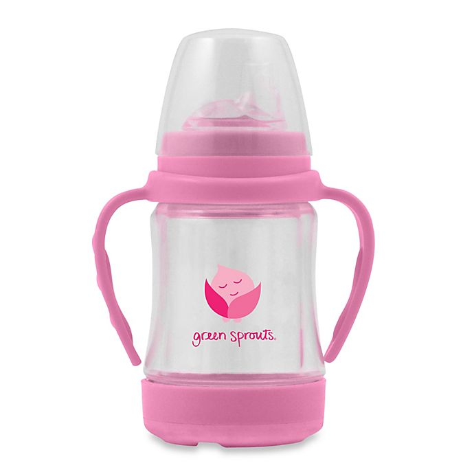 Alternate image 1 for green sprouts® Glass Sip 'n Straw Cup in Pink