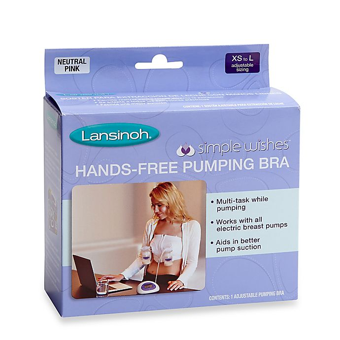 Lansinoh Simple Wishes Size Large Plus Hands Free Pumping Bra Buybuy Baby