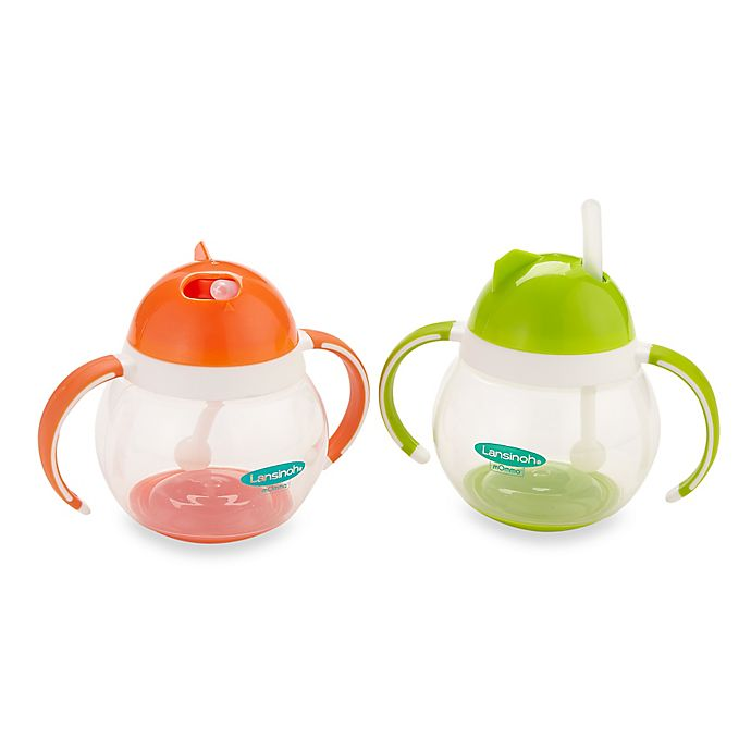 Alternate image 1 for Lansinoh® Momma® 8.4 oz. Straw Cup with Dual Handles