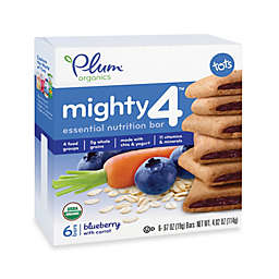 Plum Organics™ Tots  Mighty 4™ Essential Nutrition Bars with Blueberry and Carrot (6-Pack)