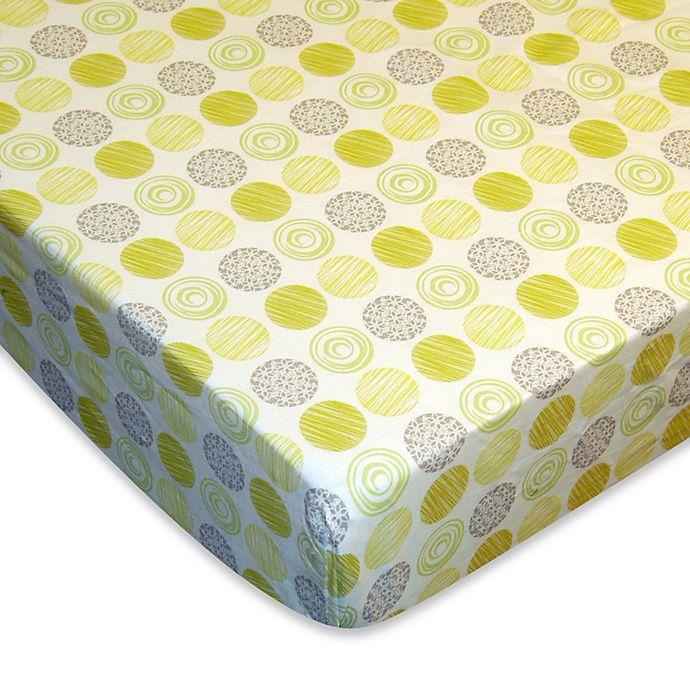 Alternate image 1 for Laugh, Giggle & Smile Zen Garden Fitted Crib Sheet