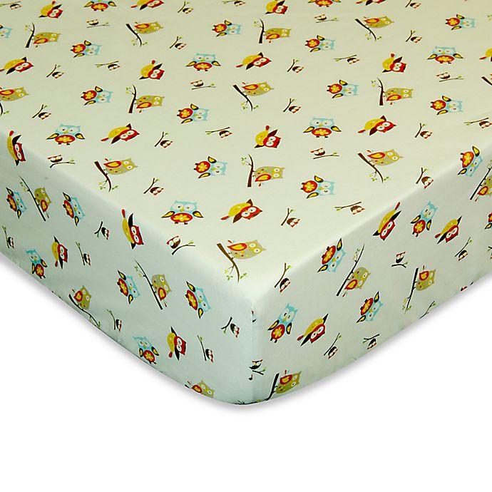 Alternate image 1 for Laugh, Giggle & Smile Spotty Owl Crib Sheet