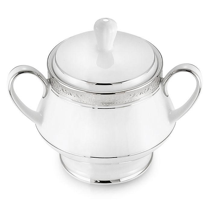Alternate image 1 for Noritake® Crestwood Platinum Covered Sugar Bowl