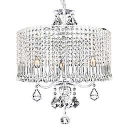 Gallery Contemporary Crystal 3-light Chandelier with Shade