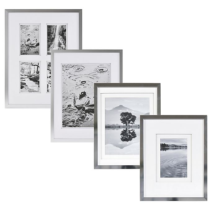Alternate image 1 for Real Simple® Silver Finish Wall Frame with White Double Mats