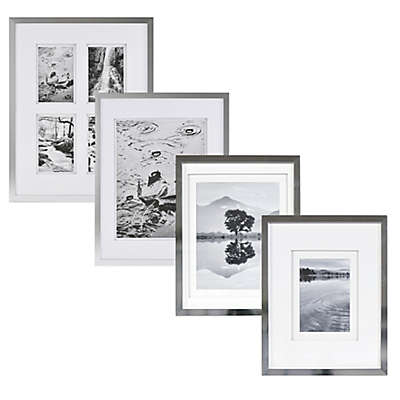 Real Simple® Silver Finish Wall Frame with White Double Mats
