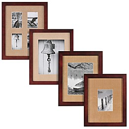 Real Simple® Espresso Wood Wall Frame with Khaki Mat