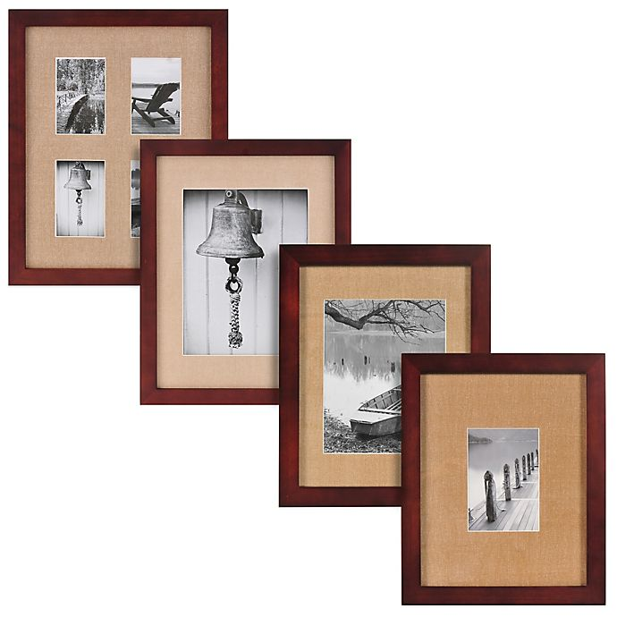 Alternate image 1 for Real Simple® Espresso Wood Wall Frame with Khaki Mat