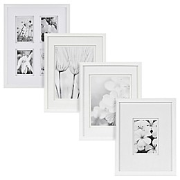 Real Simple® White Wood Wall Frame with White Double Mat