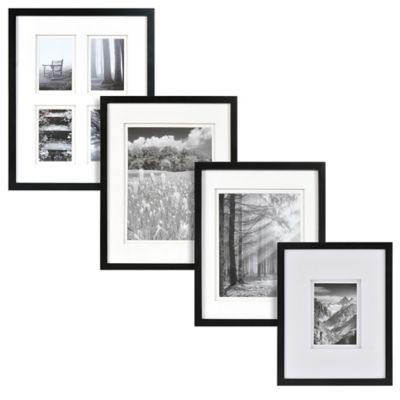 Real Simple 174 Black Wood Wall Frame With White Double Mat