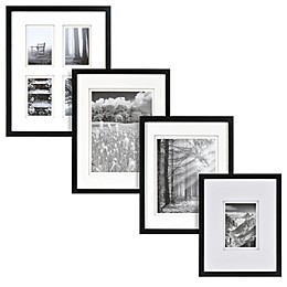 Real Simple® Black Wood Wall Frame with White Double Mat