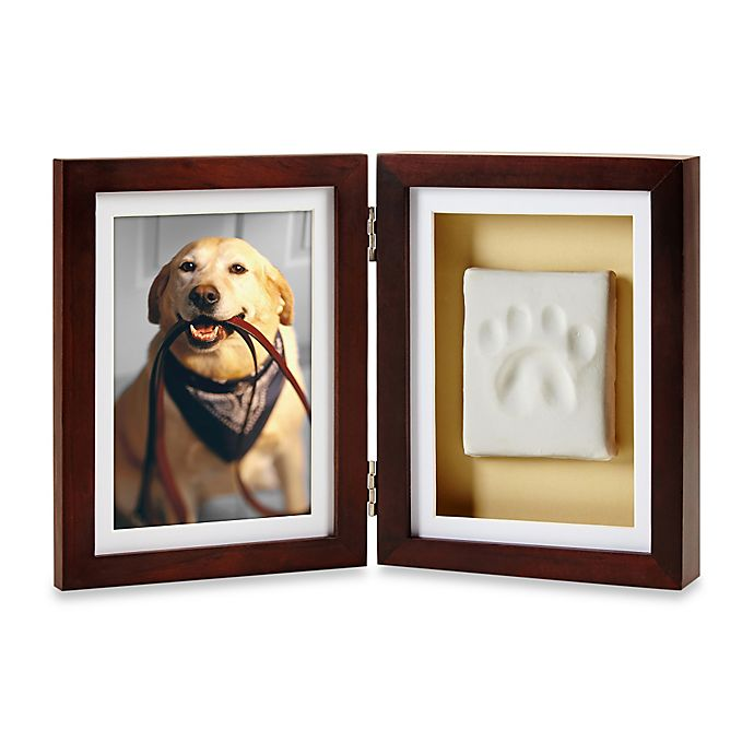 Alternate image 1 for Pearhead® Pet Pawprints 4-Inch x 6-Inch Desk Pciture Frame in Espresso