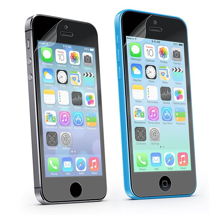 Alternate image 1 for Sharper Image® 2-Pack Screen Guards for the iPhone 5S and 5C