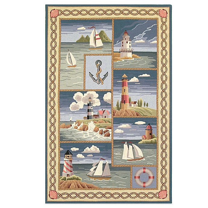 Alternate image 1 for KAS Colonial Coastal Views Indoor Rug in Blue