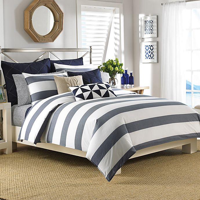 Alternate image 1 for Nautica® Lawndale Reversible Comforter Set in Navy