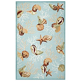 KAS Sonesta Coral Reef Indoor Rug in Blue